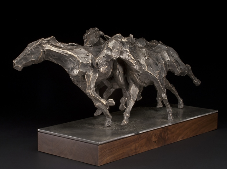 "Take the Lead  bronze  22.5"" x 42"" x 19.5"""