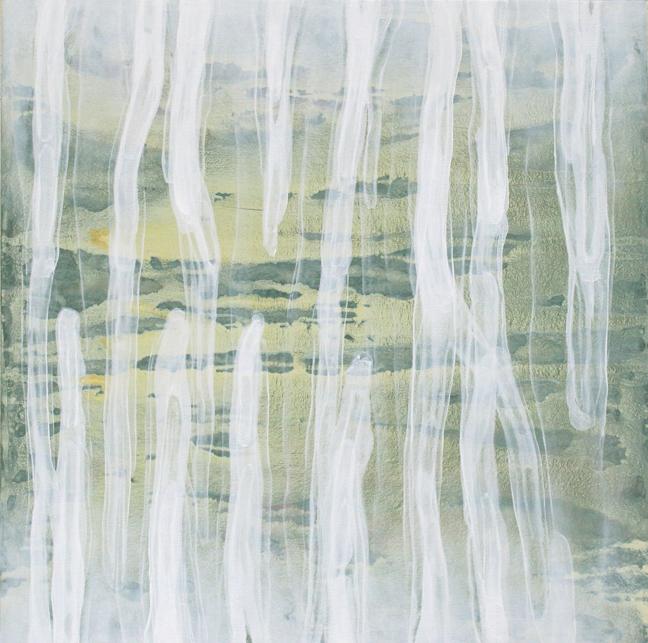 Katrin Moller  Flüssig 9,  48 x 48 in   Acrylic on canvas