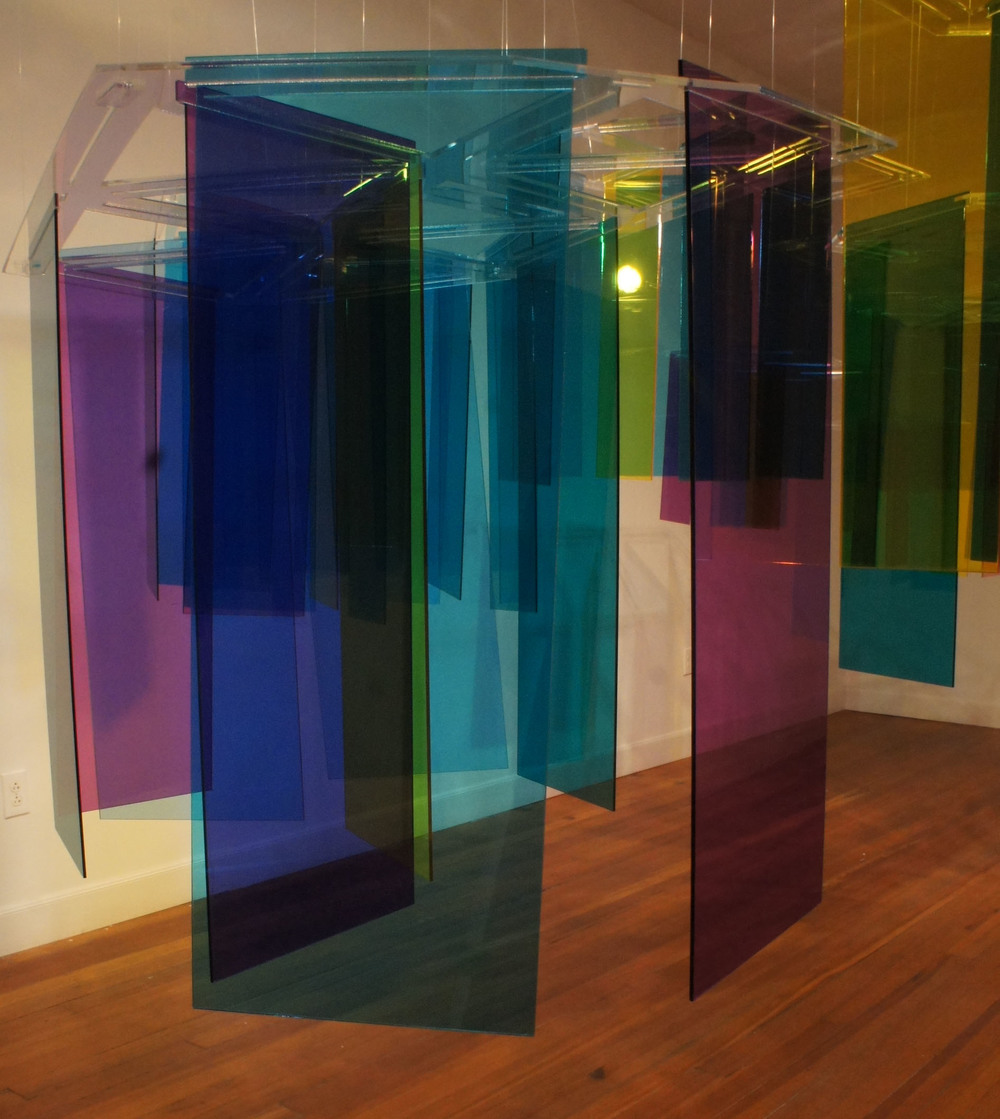 Prismatic installation  acrylic  size: variable