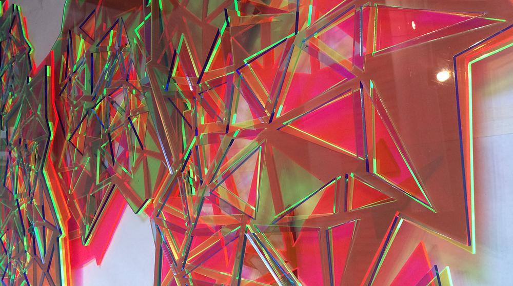 Triangulate (detail)  layered acrylic