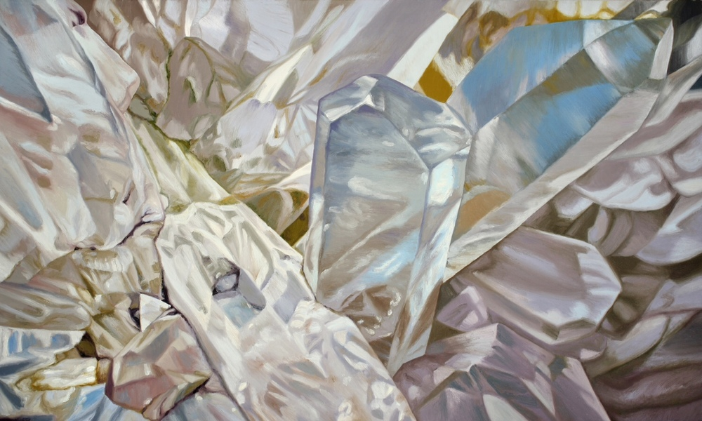 "Chloe Hedden  ""Quartz""  oil on canvas  30x50"