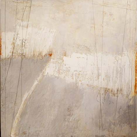 "Melanie Grein  ""A Whisper""  36x36  acrylic and graphite on panel"