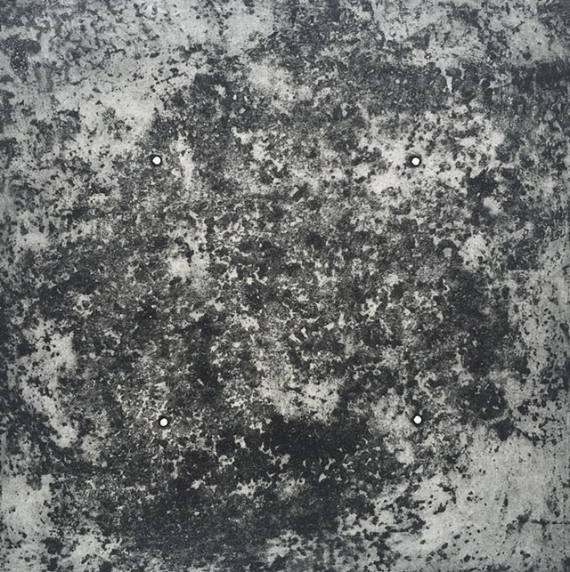 "Kellie Cannon  ""Rust/Space 7""  18x18, framed 30x30  Intaglio Print on Hahnemuhle"