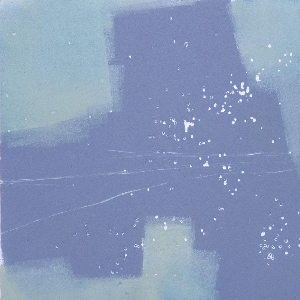 Mono 3  monoprint  10x10 image on 11x14 paper