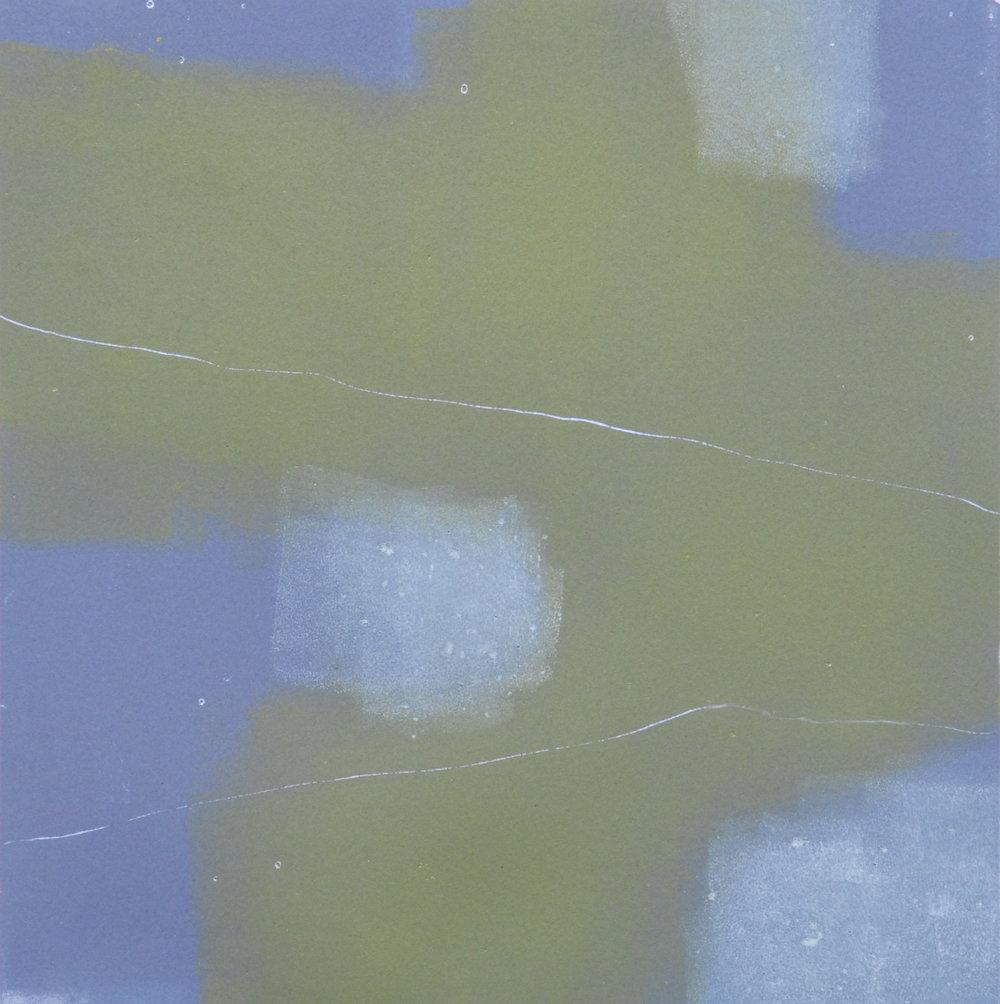 Mono 14  monoprint  10x10 image on 11x14 paper
