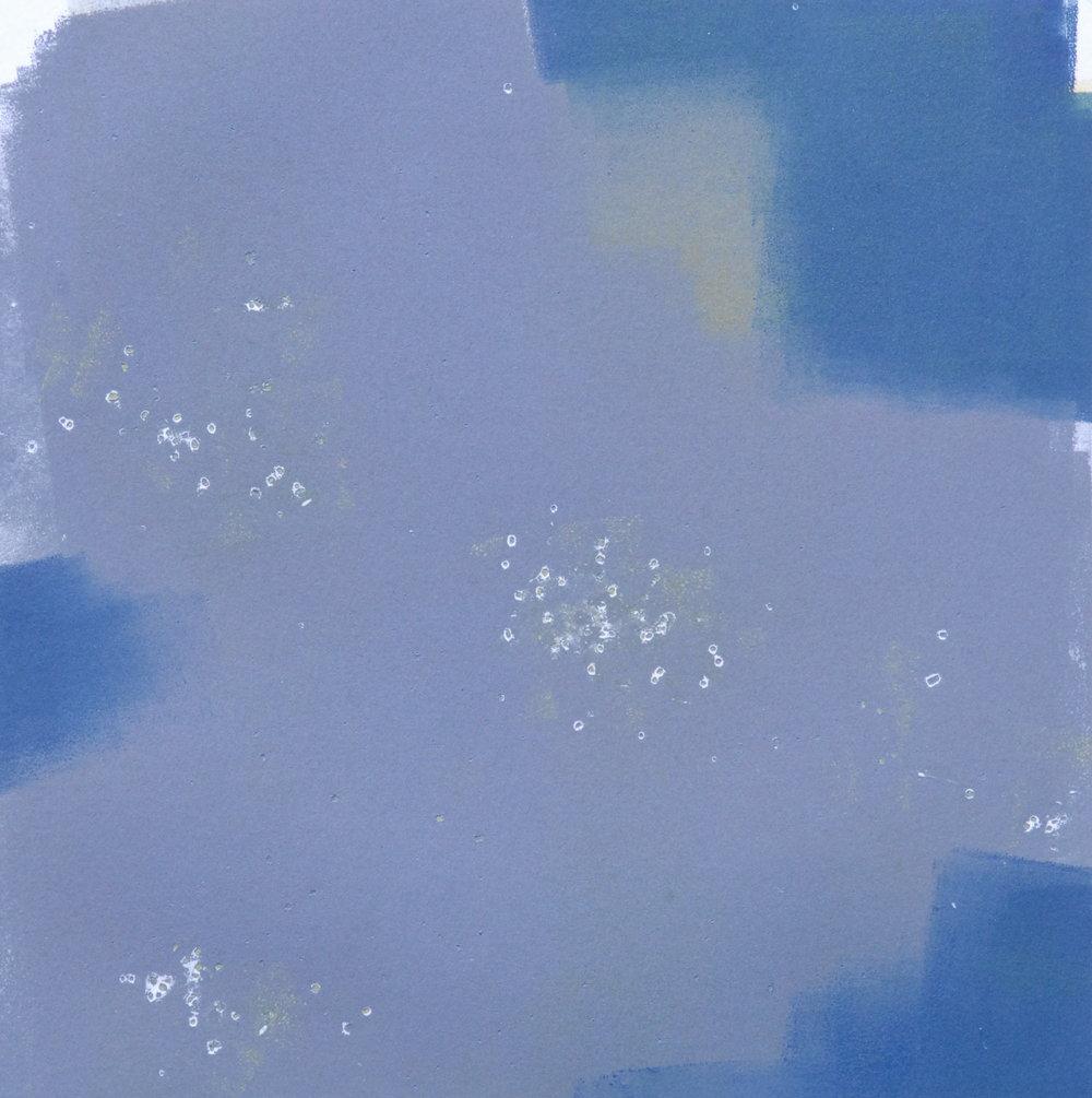 Mono 21  monoprint  10x10 image on 11x14 paper