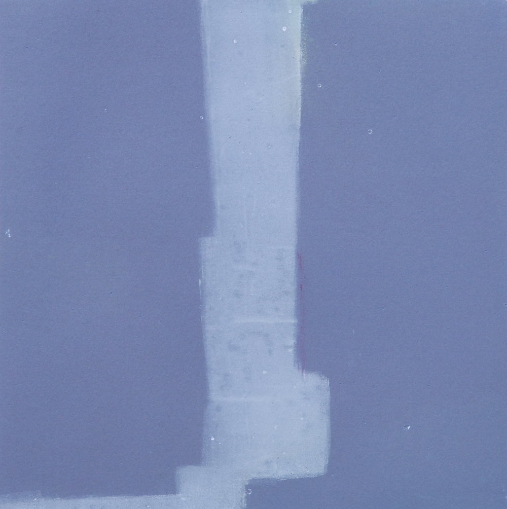 Mono 23  monoprint  10x10 image on 11x14 paper