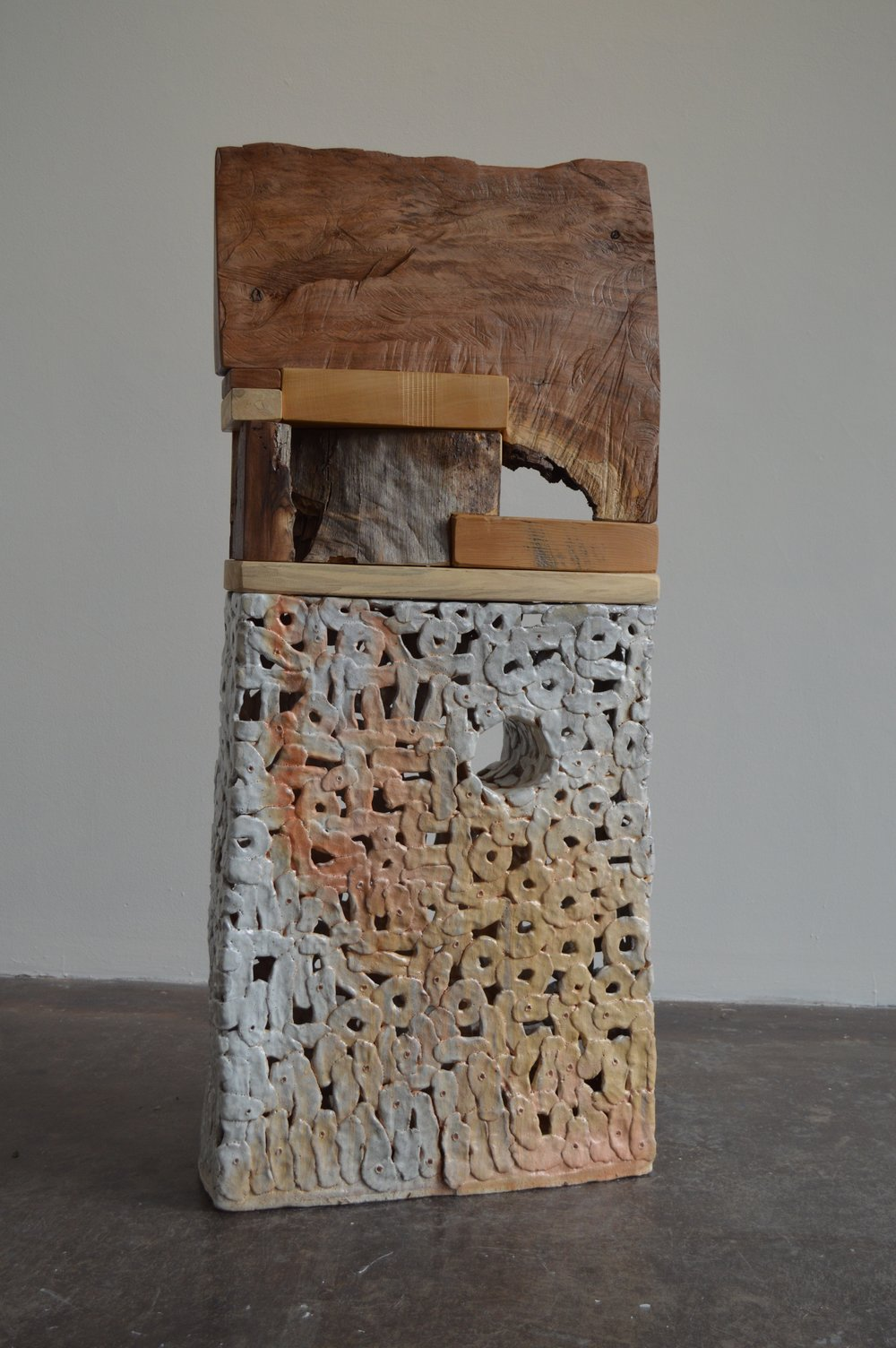 Dunstin  salt fired stoneware  53x23x6