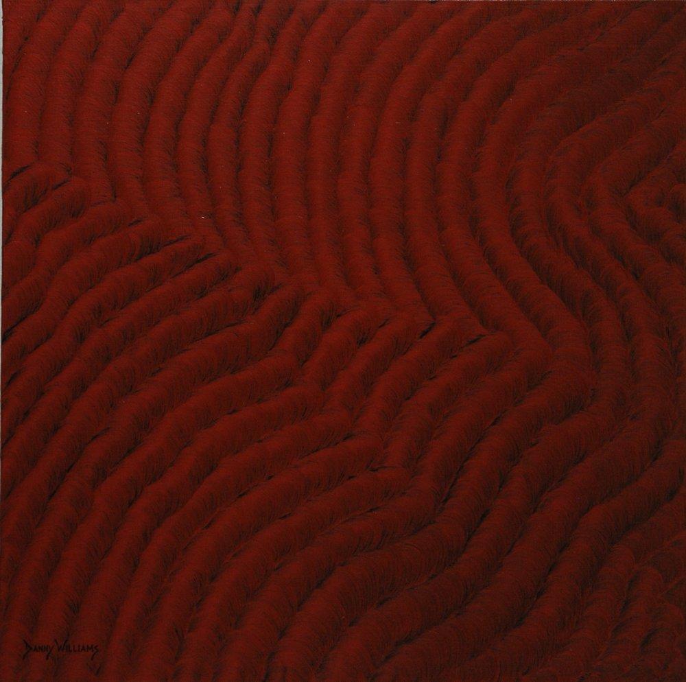 """Crimson Chorus  Oil on canvas  18"""" x 18"""""""