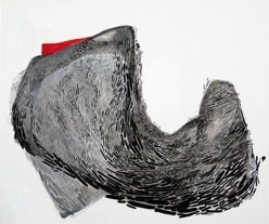 Untitled 3, 2015  acrylic, ink & gouache on canvas  20x24