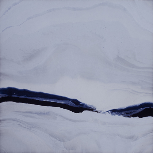 "Remembering Softly  resin & acrylic on panel  36"" x 36"""