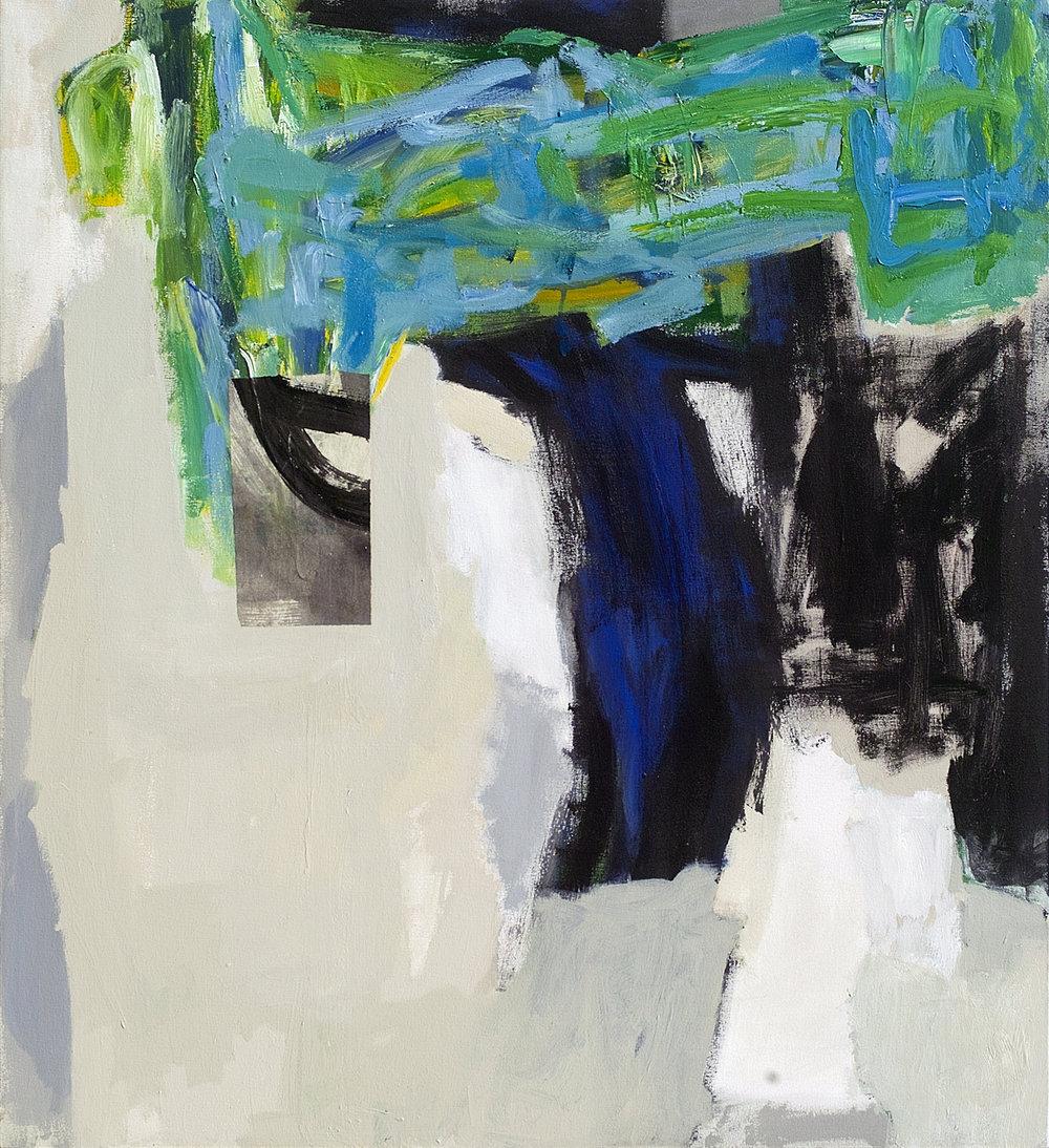 Mooring  acrylic on canvas  46 x 42