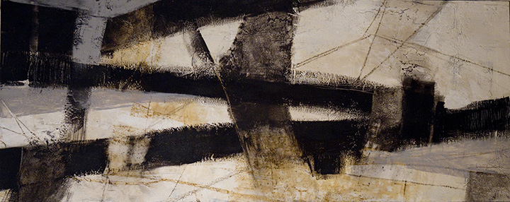 Getting There  acrylic and graphite on panel  24x60