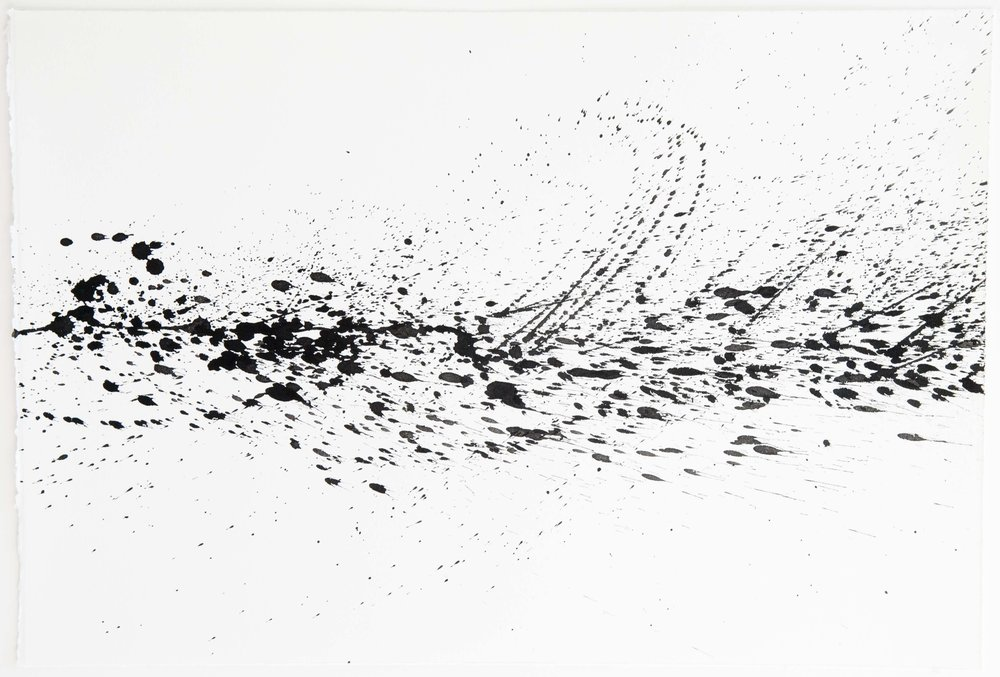 Andrew Marcus  Untitled, No. 7  sumi ink on paper  15x22