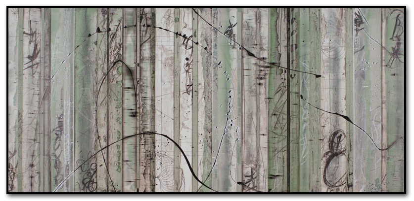 Viridian 1  Mixed media  23 x 47 in.