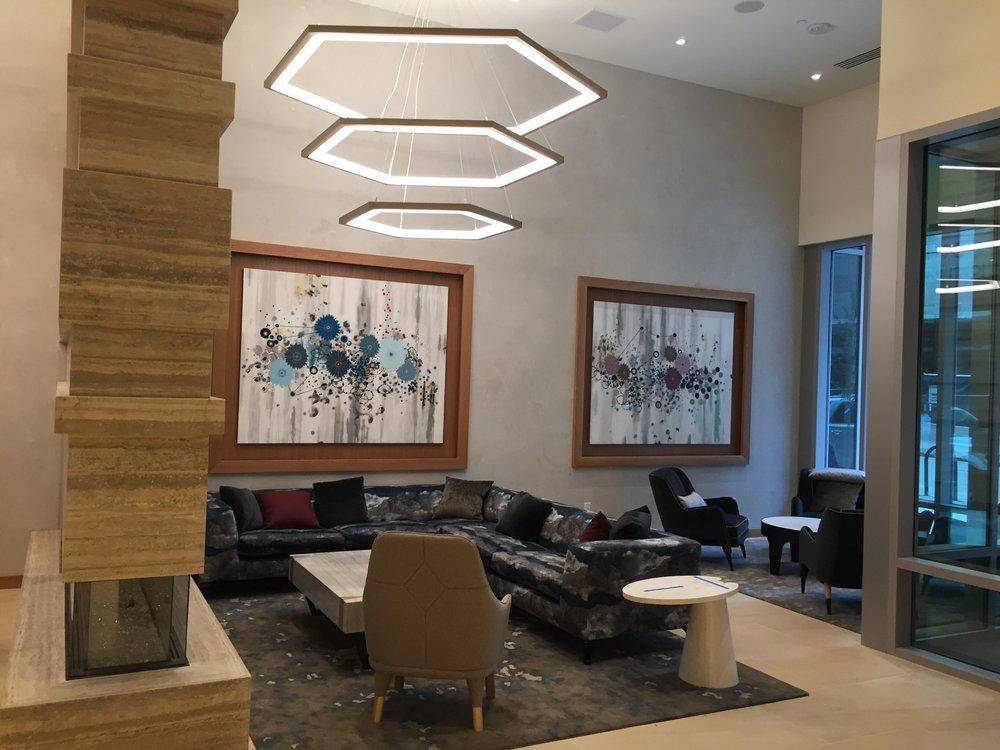 Location: Union Denver. Architect: Davis Partnership. Art Consultant: Nine dot Arts. Interiors: Vida Design. Artist Commissioned: Heather Patterson.