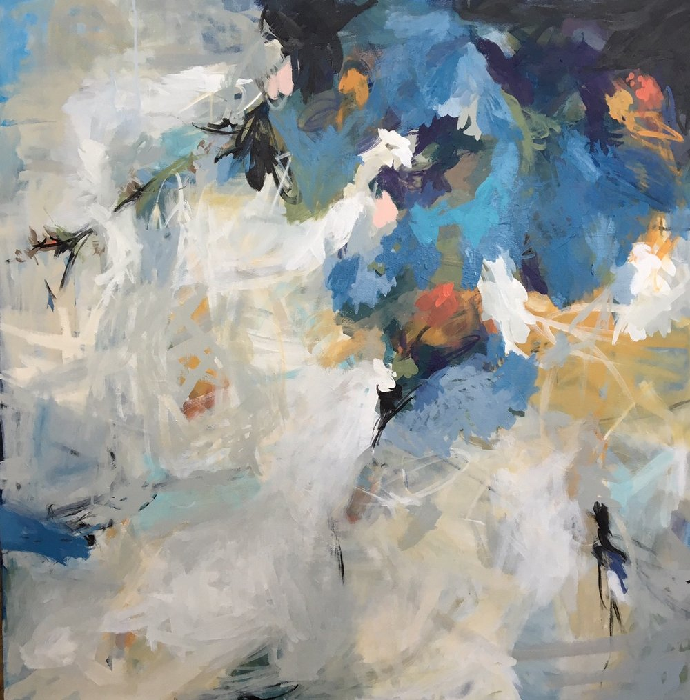 Carol Browning  For-est  48x48  mixed media on canvas
