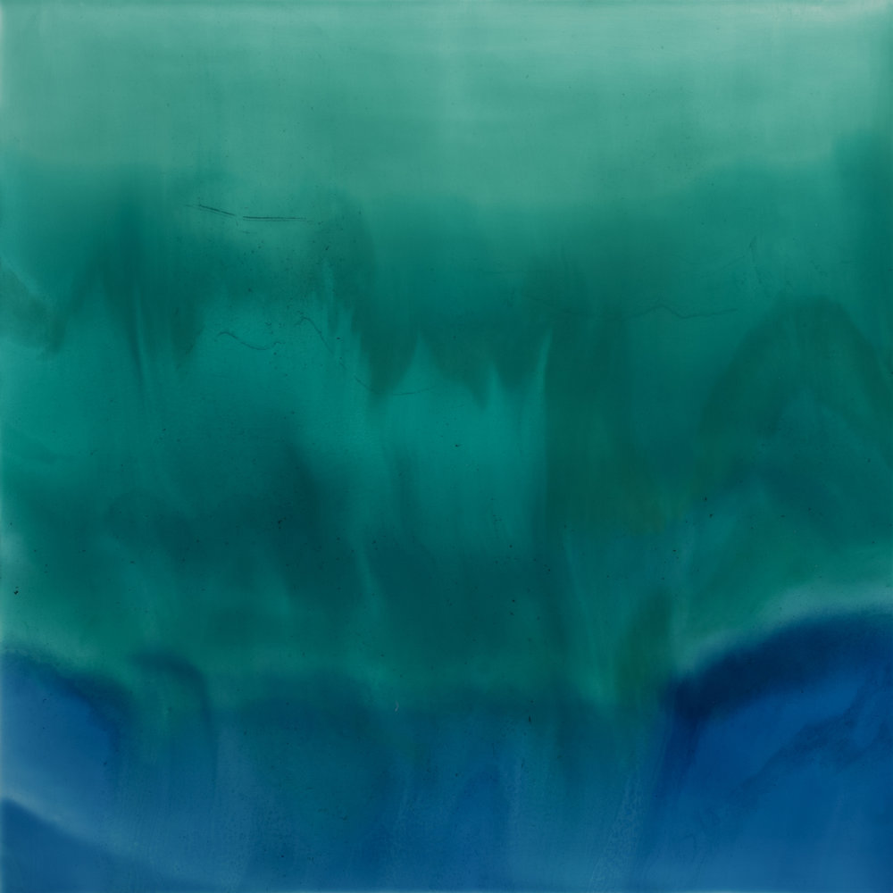 Confluence  resin & acrylic on panel  36x36