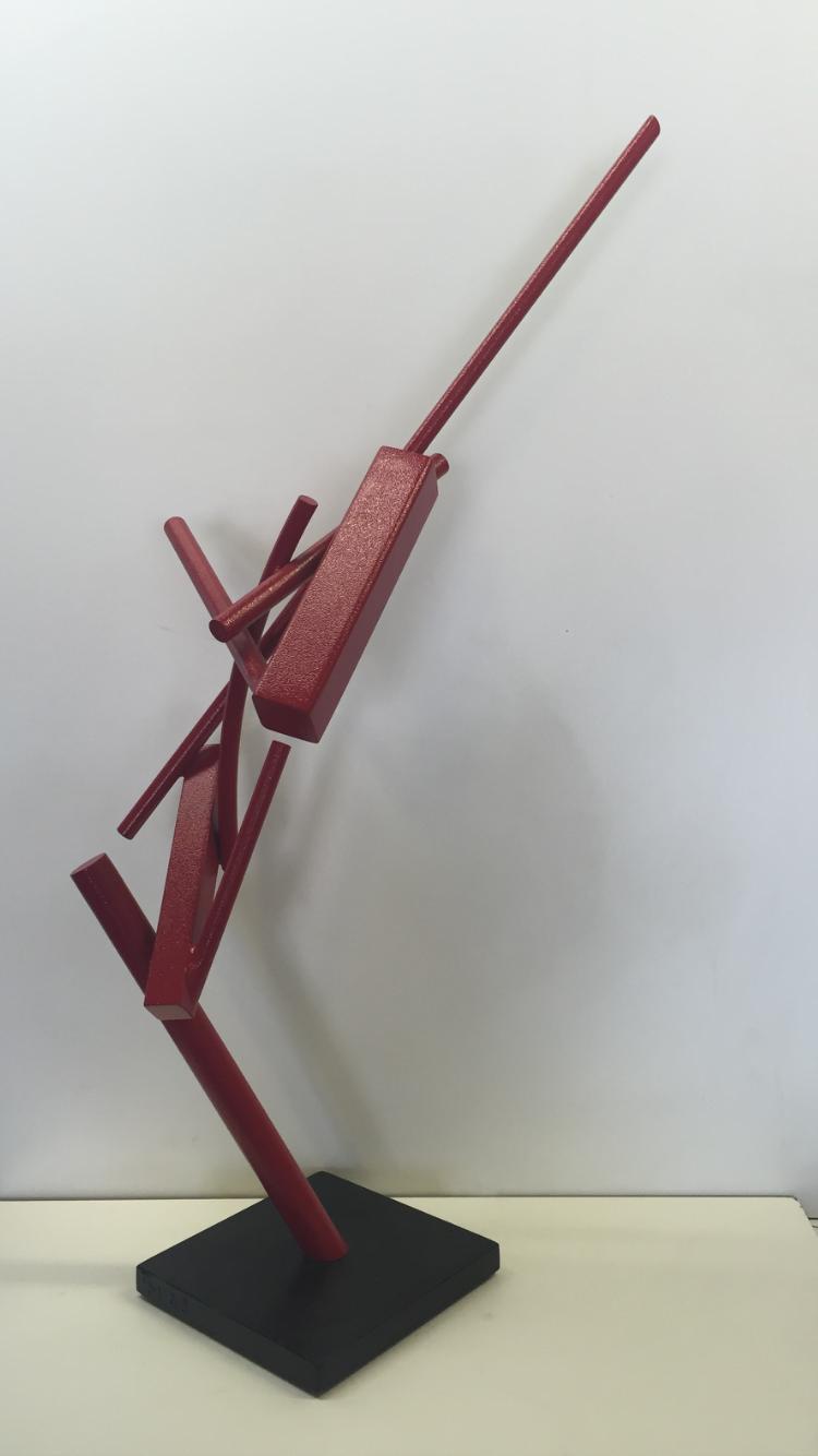 """Archernar, 1/4 scale  powder coated steel  31"""" x 10"""" x 16"""""""