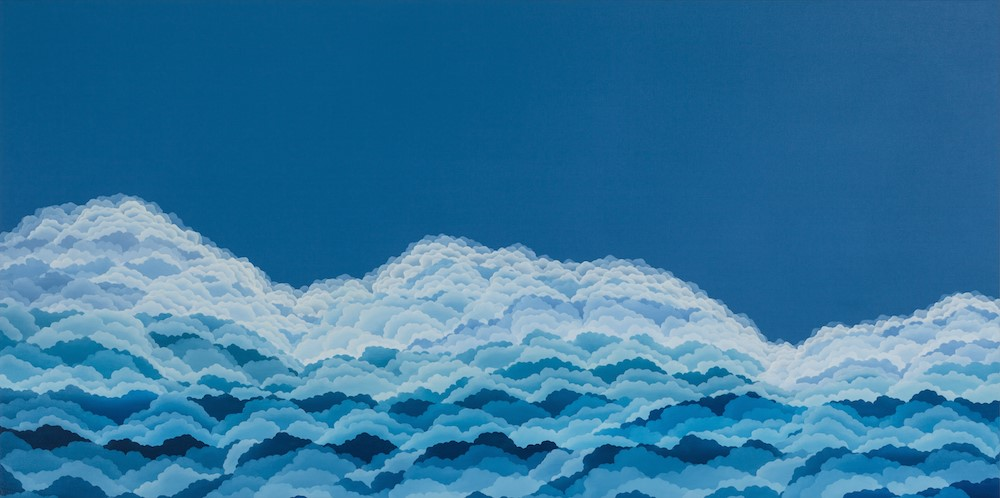 "Cloud Waves  oil on canvas  30"" x 60"""