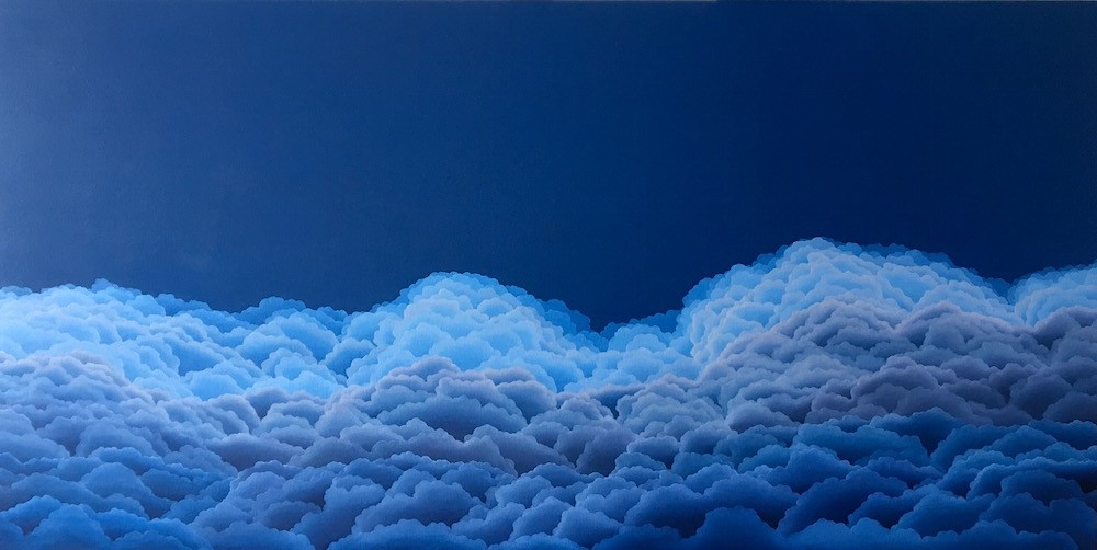 "Cumulonimbus Gloaming  oil on canvas  30"" x 60"""