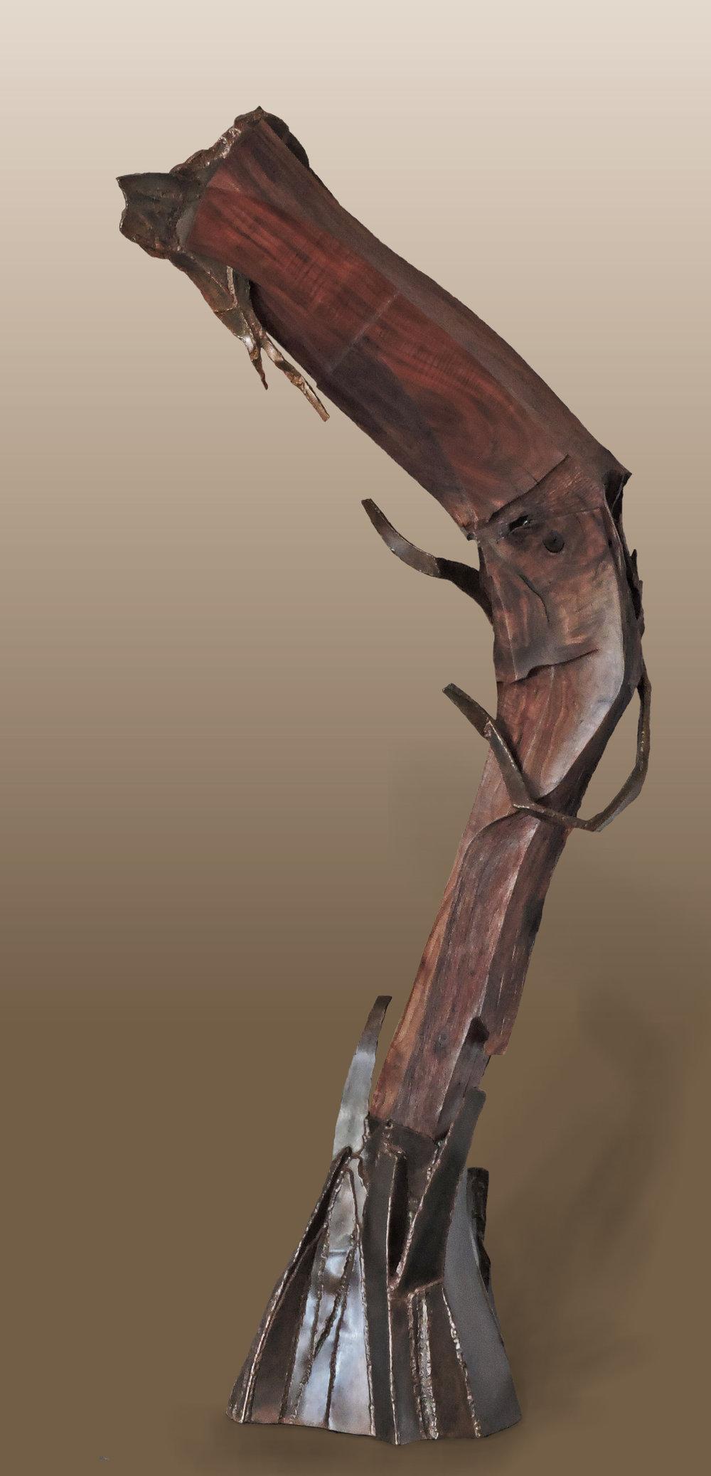 Dog Leg Blues  Walnut and steel  75x36x13