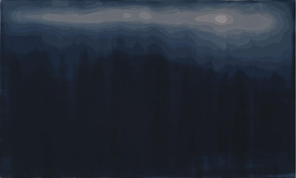 Chris Richter  Tri-Monochrome-321  Oil on panel  18x30