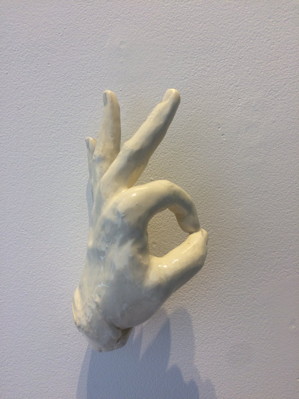 Short Hand (OK)  ceramic  8x4.5