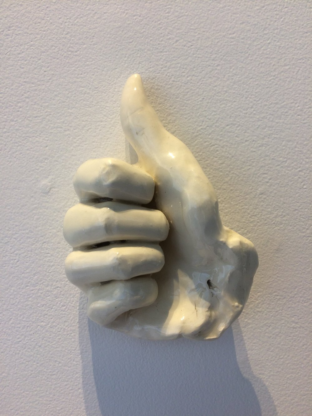 Short Hand (Thumbs Up)  ceramic  6x4.5