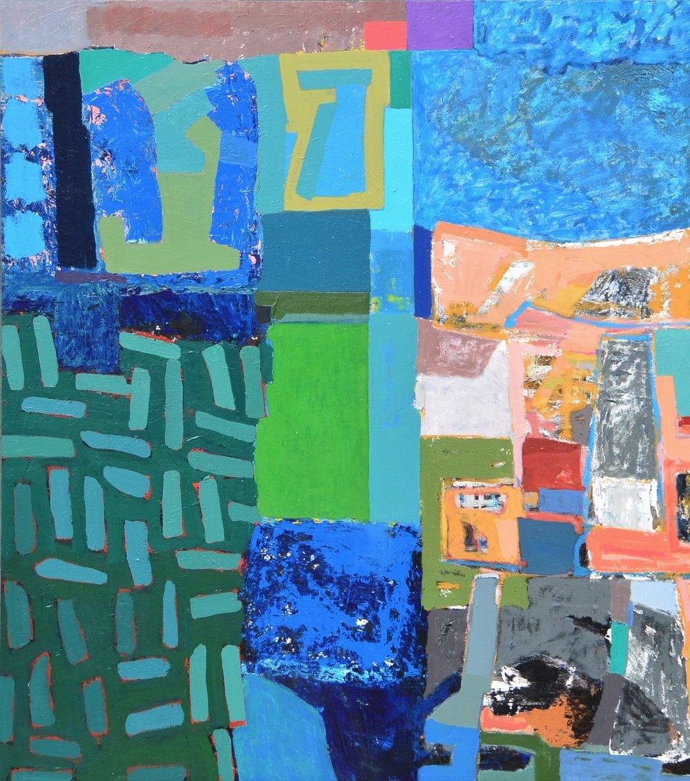 Spanish Steps  acrylic on canvas  66x58