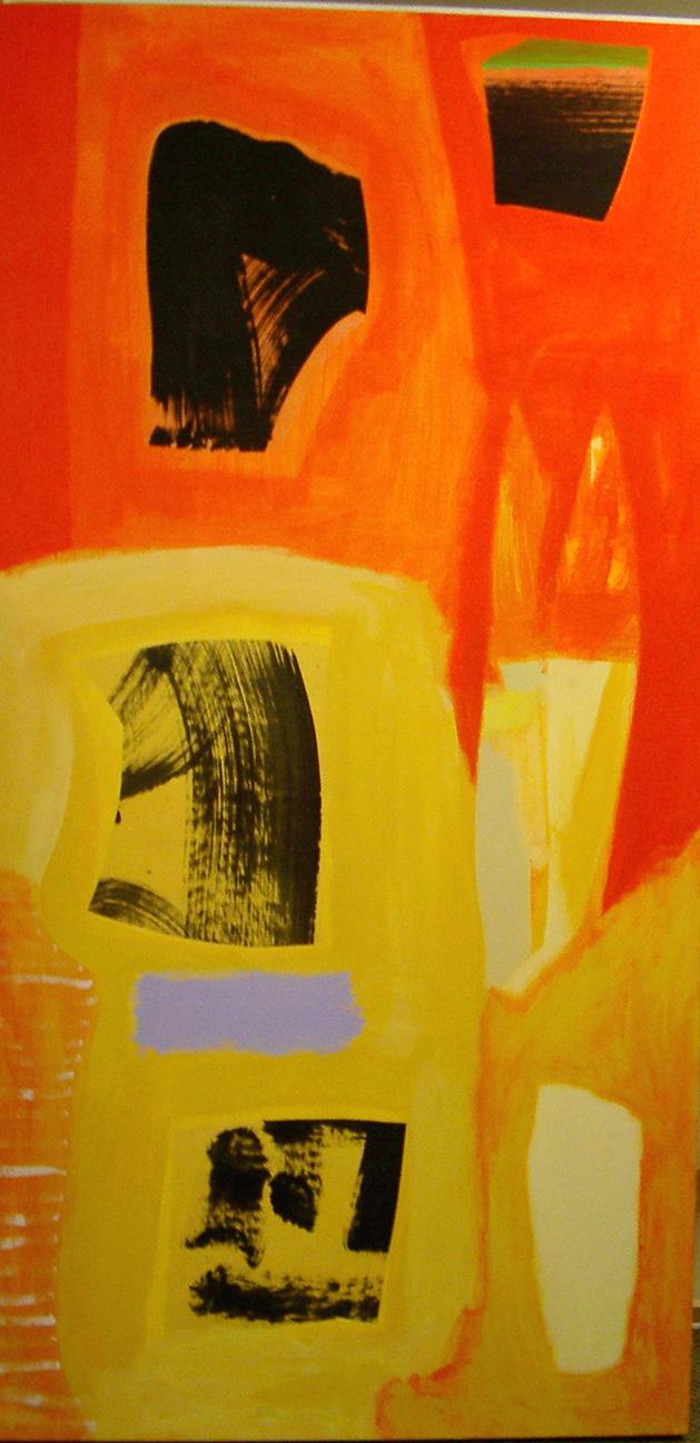Saraswati  acrylic on canvas  72x36