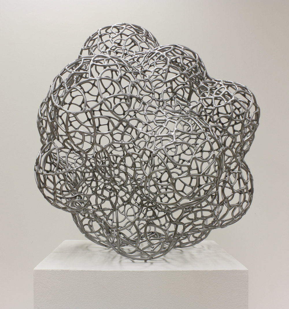 Jonathan Hils  Silver Lining  welded & powder coated steel  32x31x30