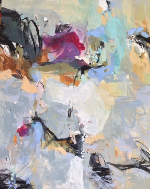 Carol Browning  Imagine  acrylic, oil bar & graphite on canvas  43x55