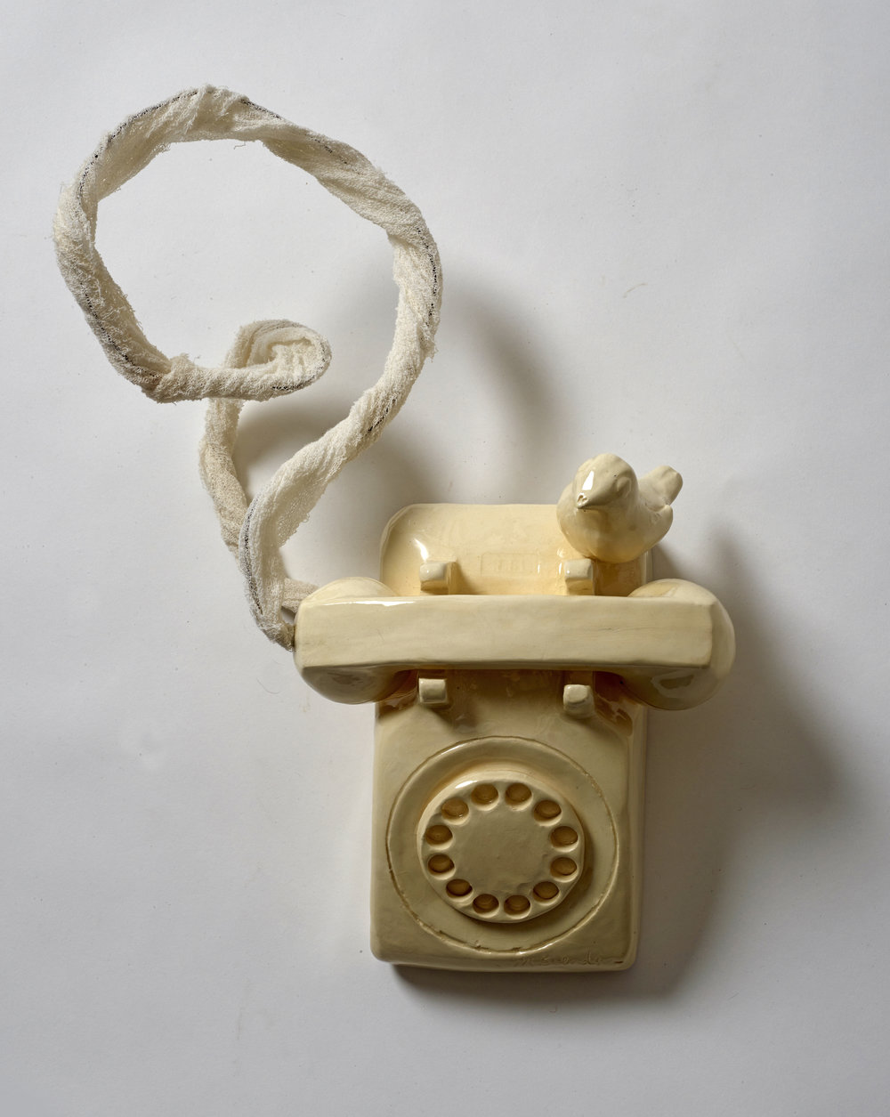 Hand, Bird, Phone 2  ceramic  16x10x4