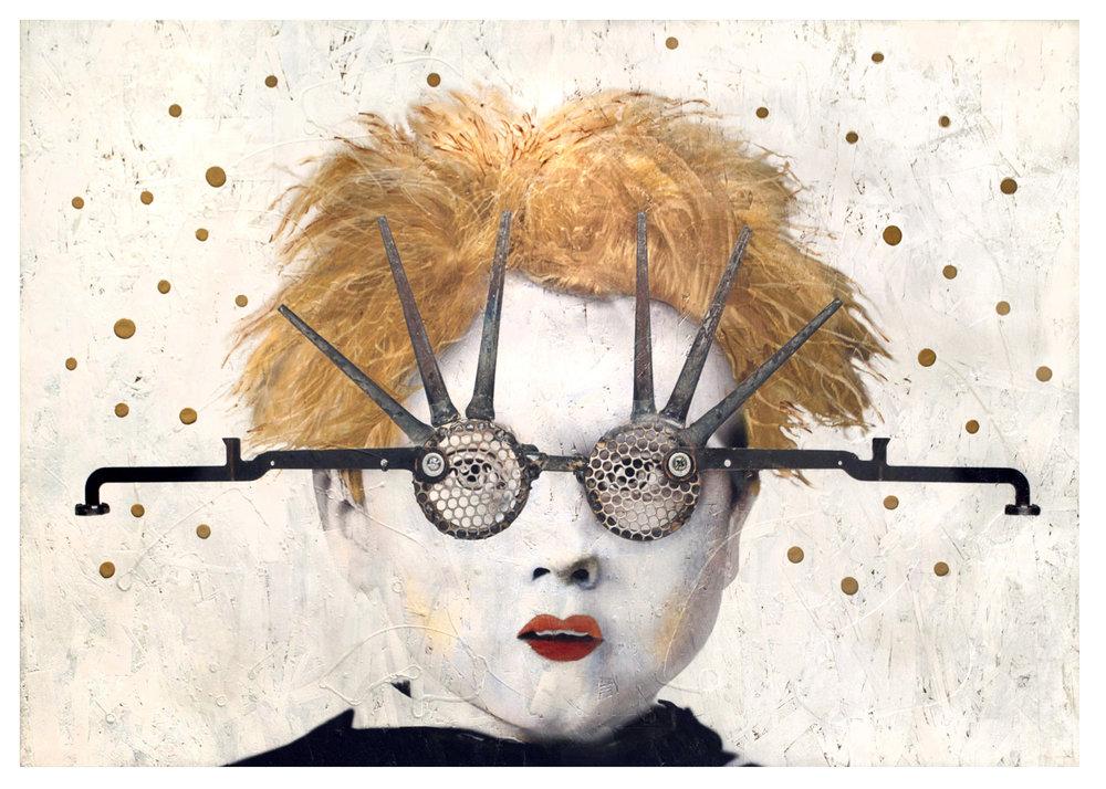 Carol Coates  Minds Eye II  mixed media on panel  48x34