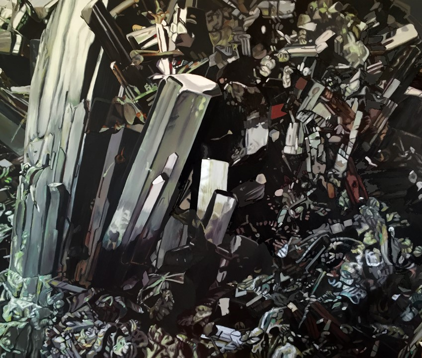 Chloe Hedden  Epidote  oil on canvas  72x60