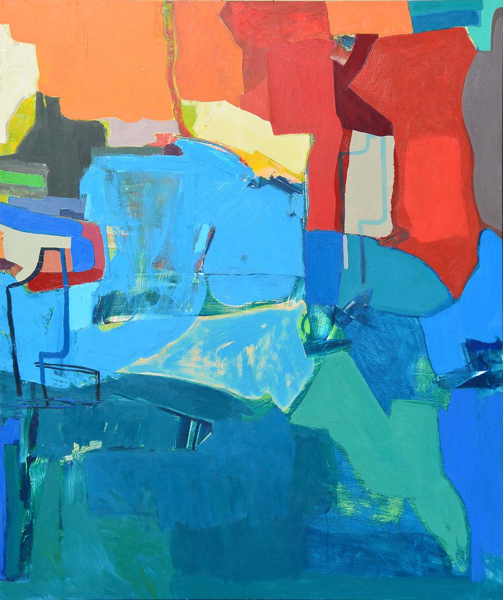 Whale Kiss Camel  acrylic on canvas  60x72