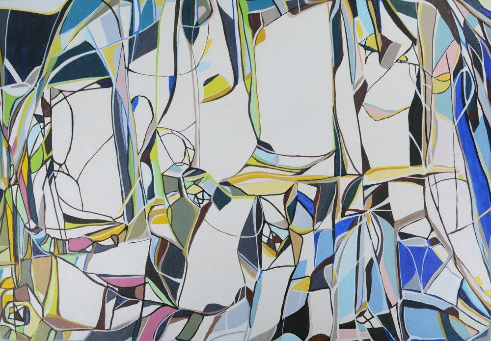Ellen Moershel  It Goes Way Up  34x24  acrylic on canvas
