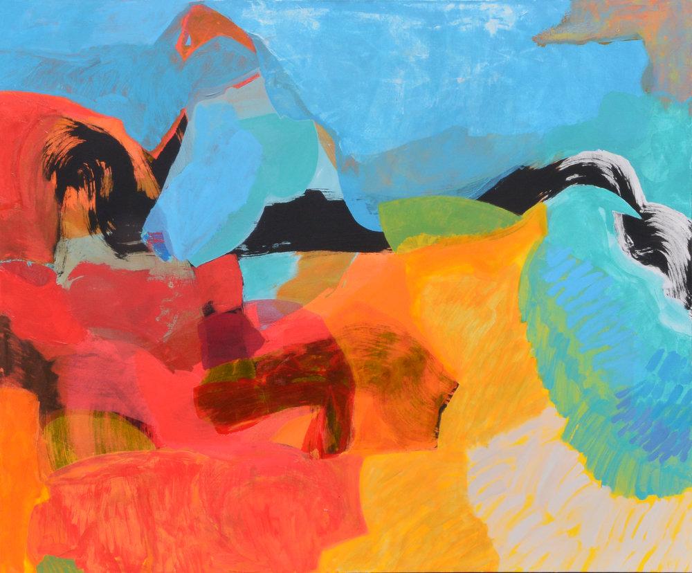 "Ben Strawn, ""Portent"", 56x68, acrylic on canvas"
