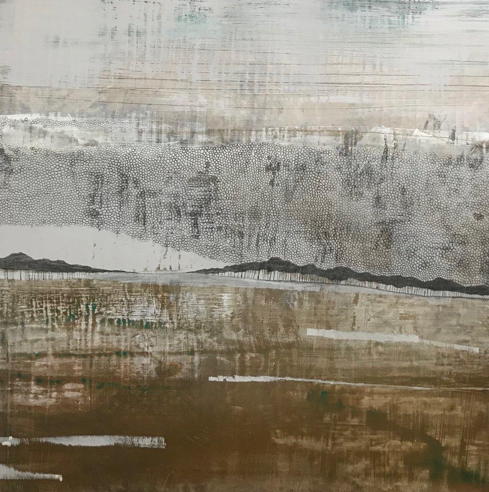 Melanie Grein  Untitled 2  mixed media on panel  36x36