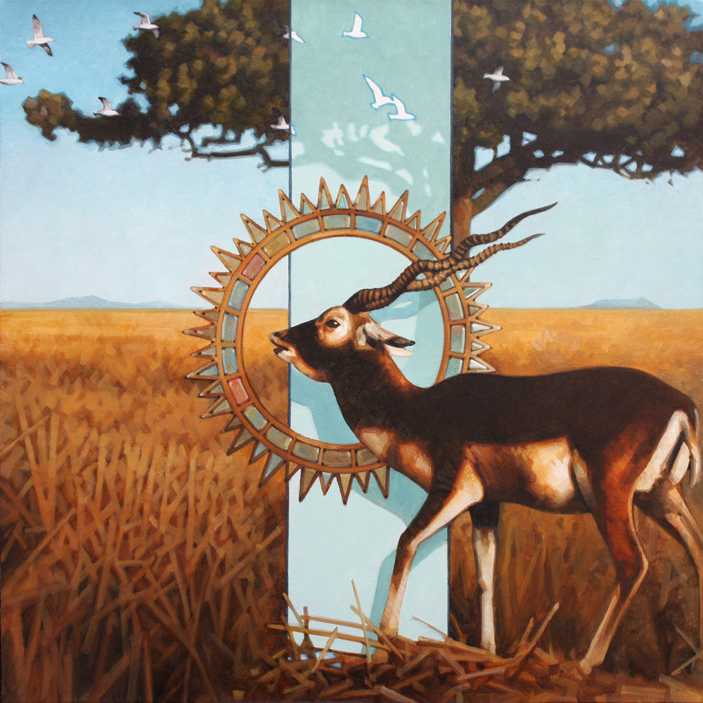 Aaron Morgan Brown  Promenade 2  oil on panel  30x30