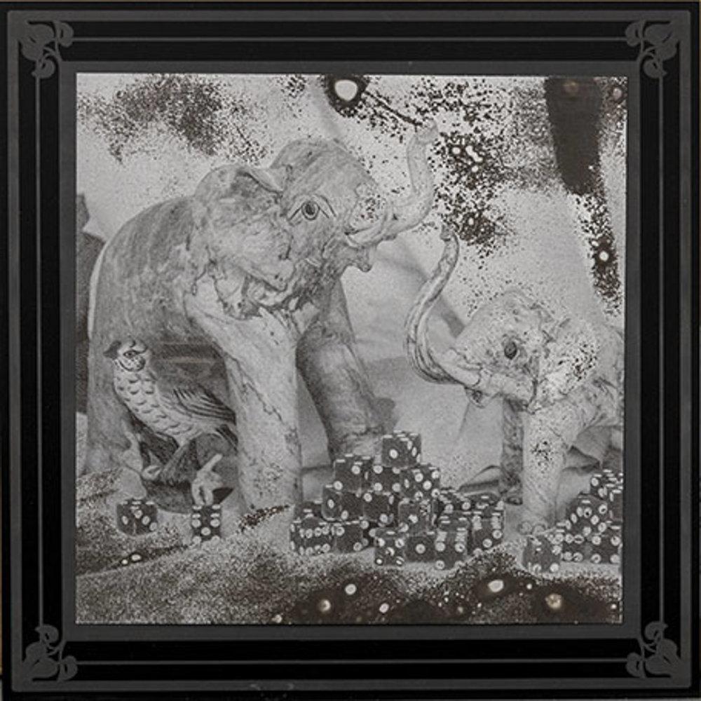 Elephant Dice  11 x 11  caustigram mounted on laser engraved acrylic
