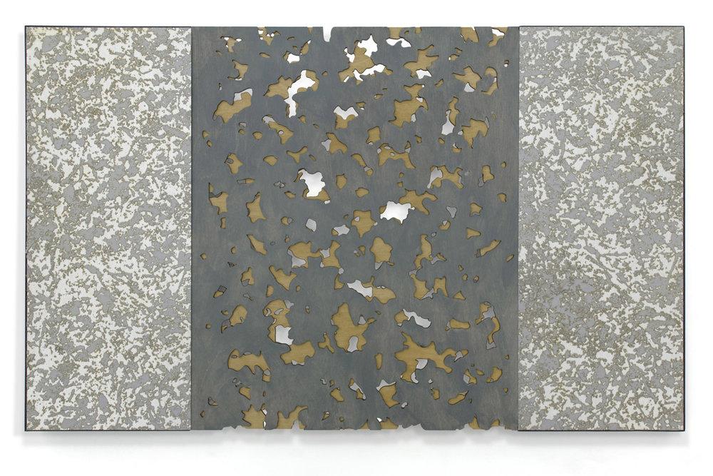 Karin Schminke  Interludes: Late Winter  mixed media on aluminum panel, paint & baltic birch  20x32