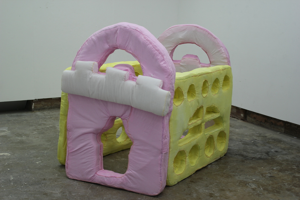 This is the Place, 2012  Hand-dyed fabric, stuffing, foam core, velcro  2000mm x 1200mm x 1000mm