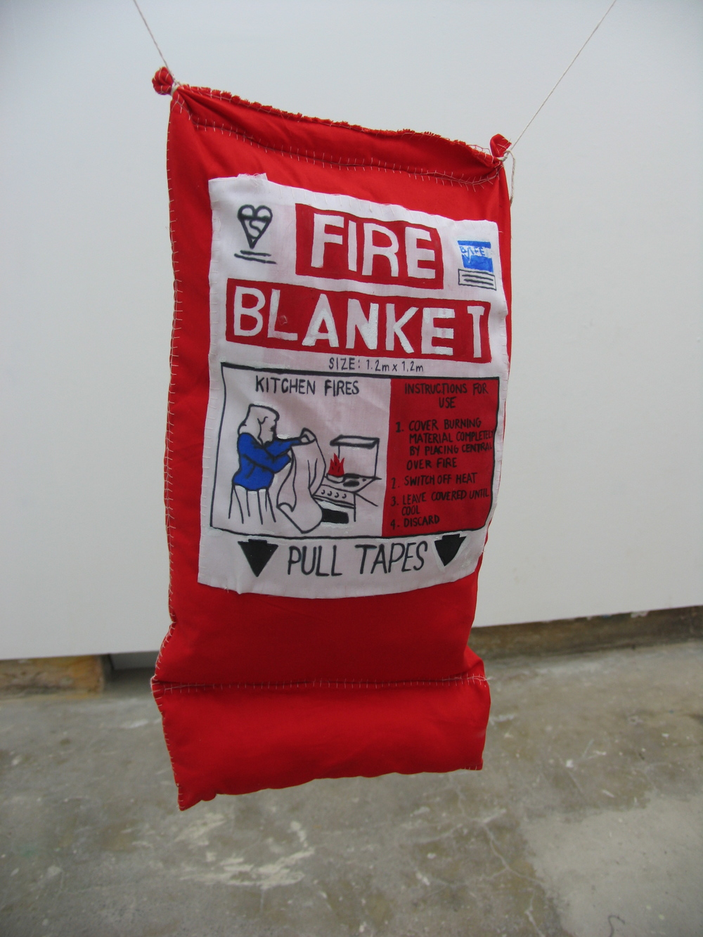 Charm Blanket, 2012  Acrylic paint, permanent marker, fabric, stuffing   470mm x 250mm x 60mm