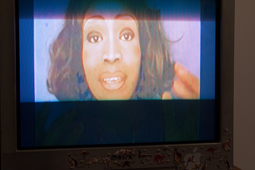 Atong Atem  Wired 4 Sound, 2015  Single Channel video, Television (4.50 mins)  Curated by Hana Hoogedeure  Photo: Isabel Rouch