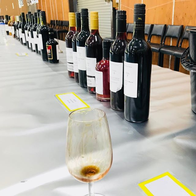 A tough day at the office - exhibitor wine tasting at the Rutherglen Wine Show. A little more refined than our old days of the public tastings at the Royal Hobart Wine Show 😂