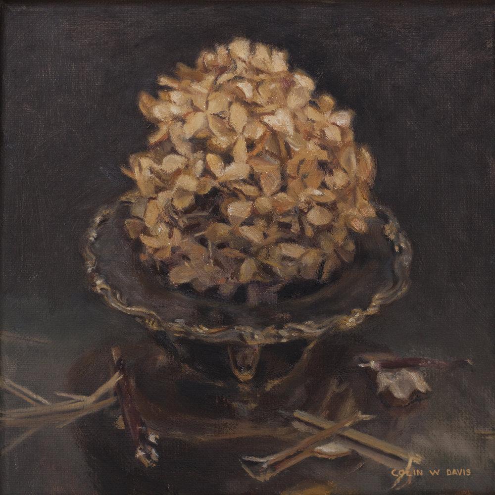 Dried Hydrangea on Throne