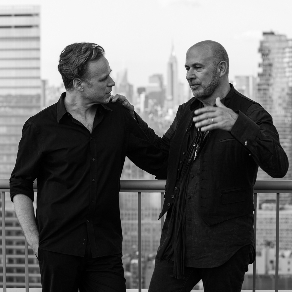 Karsten Staiger and John Varvatos during the interview at the W Hotel Downtown  photo Erik Bardin  www.ebar.photo