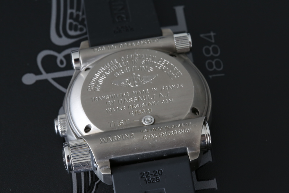 The transmitter is made for Breitling by the specialist French aeronautical company Dassault A.T.